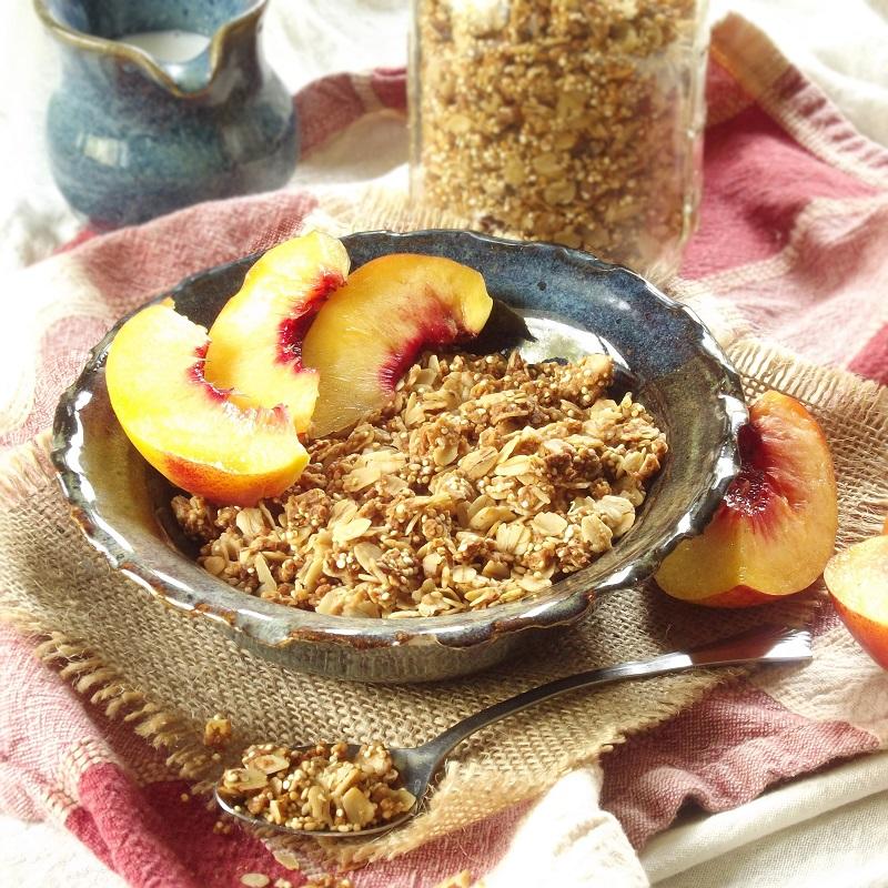 Sesame Crunch Quinoa Granola
