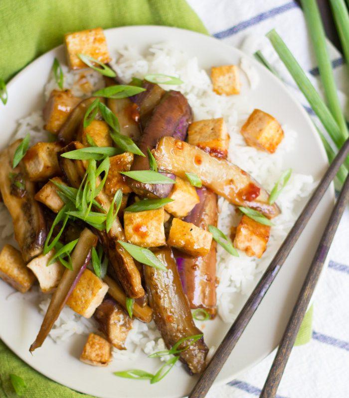 Szechuan Eggplant with Tofu
