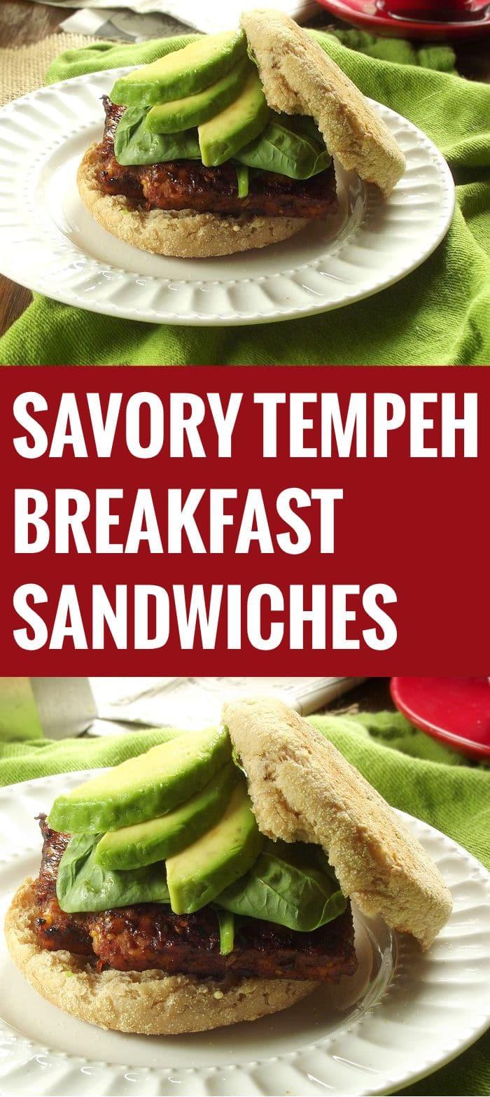 Savory Tempeh Breakfast Sandwiches