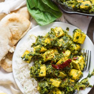 Vegan Saag Paneer (with Tofu Paneer!)