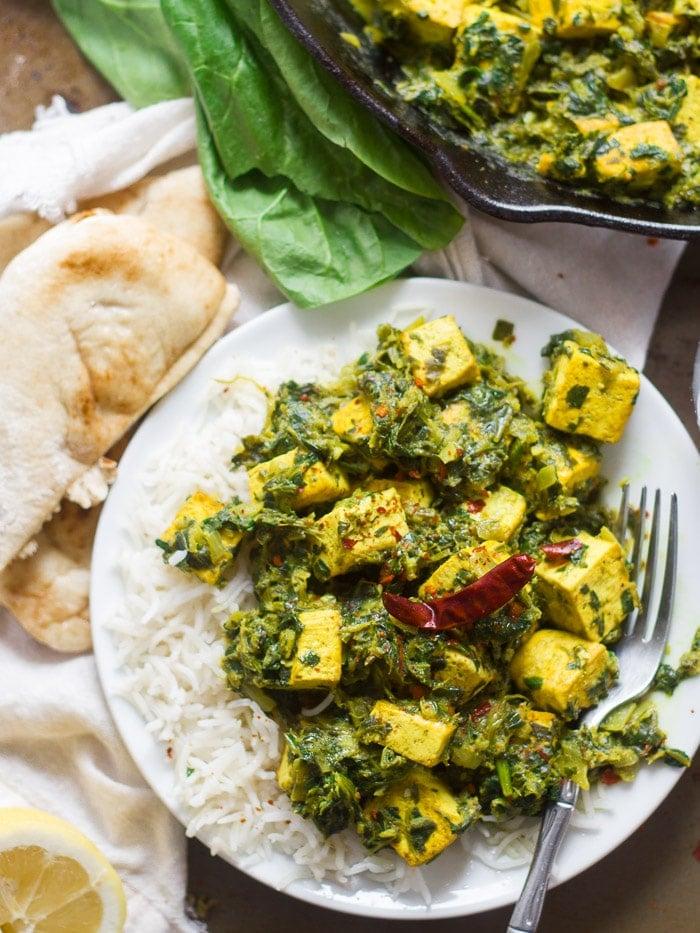 Vegan Saag Paneer With Tofu Paneer Connoisseurus Veg