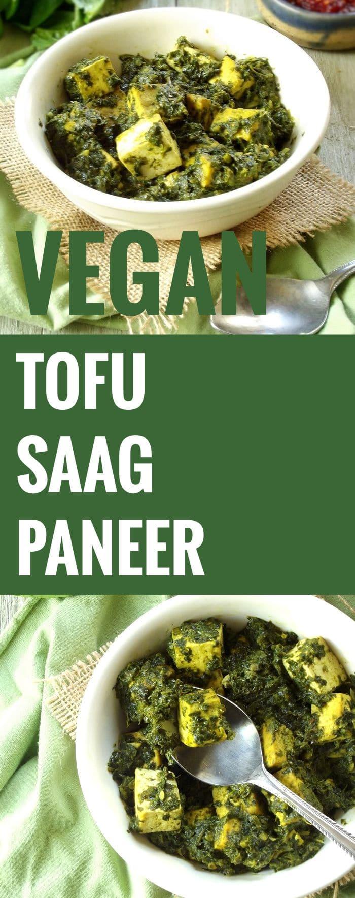 Vegan Tofu Saag Paneer - Connoisseurus Veg