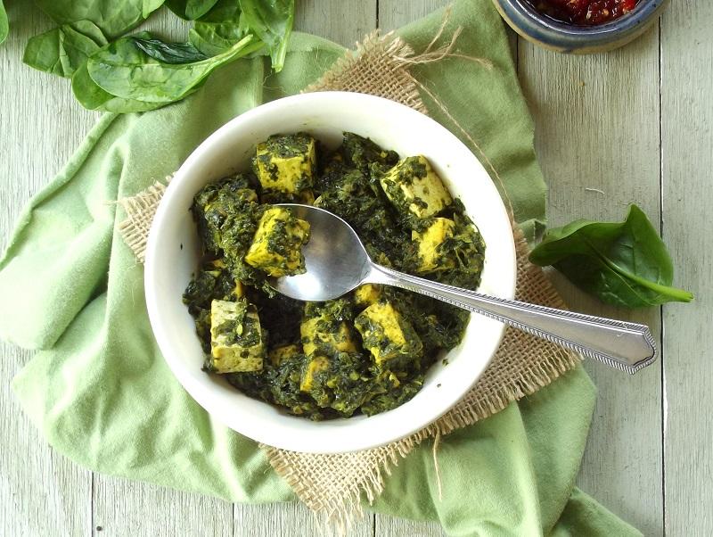 Vegan Tofu Saag PaneerConnoisseurus Veg