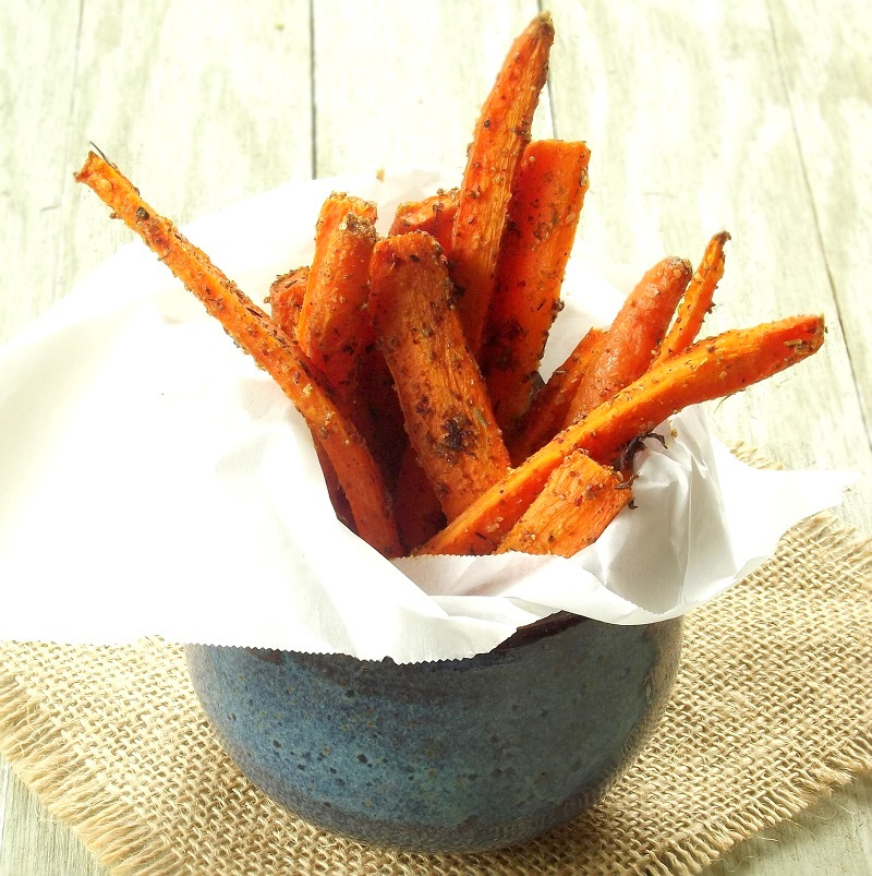Garlic Za'atar Baked Carrot Fries