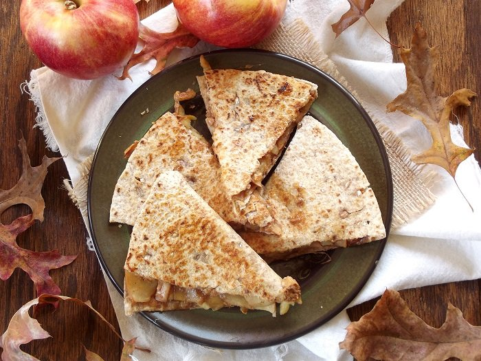 Sautéed Apple Peanut Butter Quesadillas
