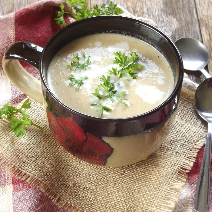 Blackened Cauliflower Soup