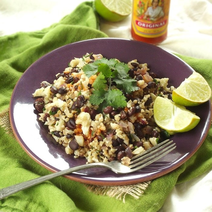 Cilantro Lime Cauliflower Rice & Beans