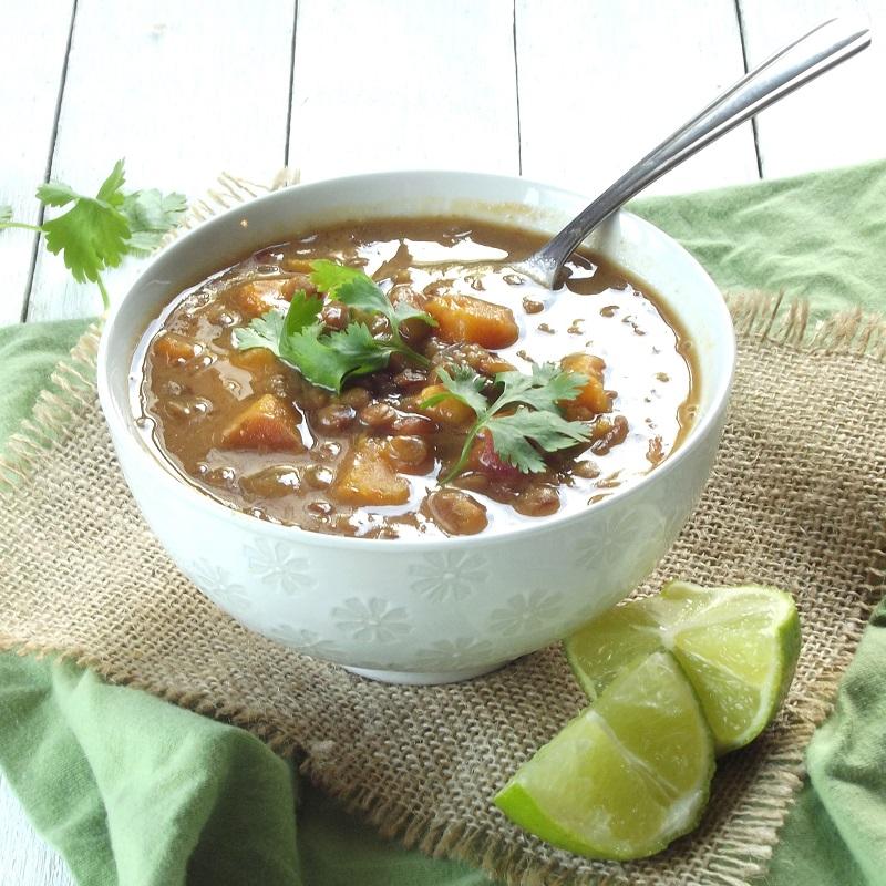 curry lentil sweet potato soup side pub