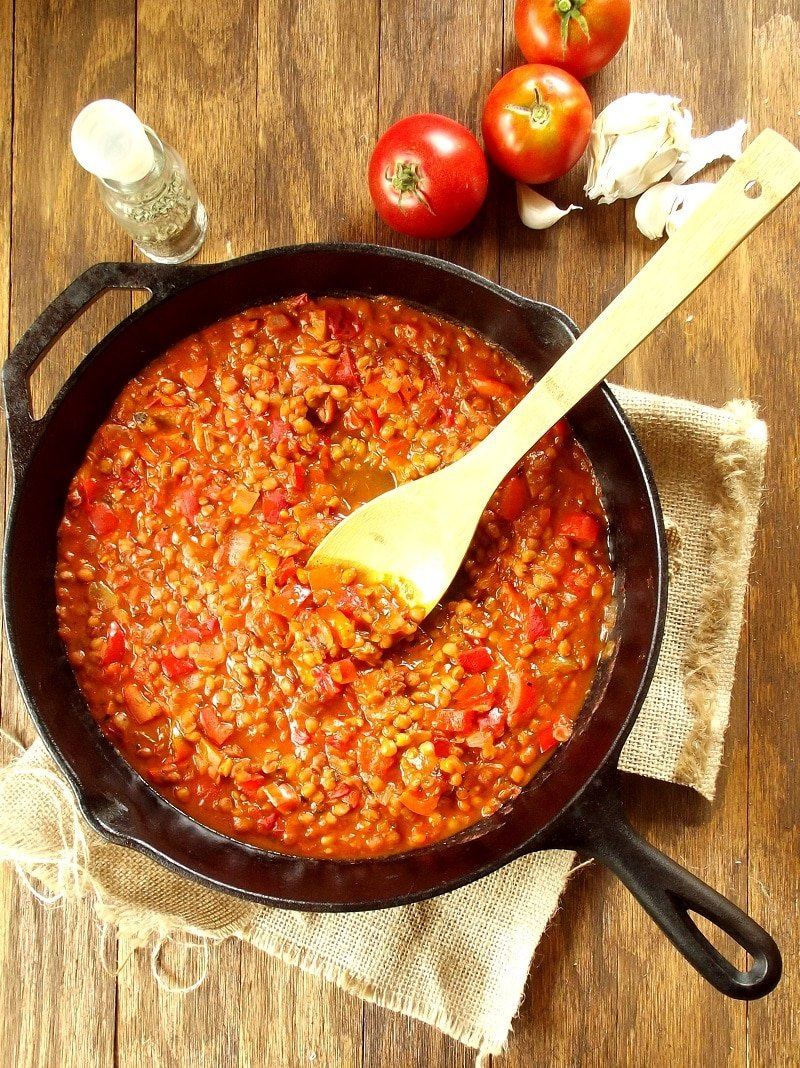 Red Pepper Lentil Bolognese Sauce