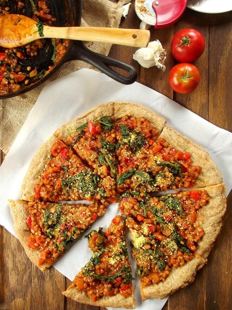 lentil pizza portrait