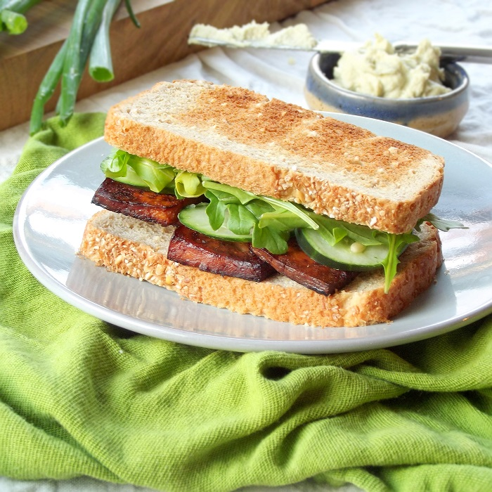 smoky tofu sandwich featured