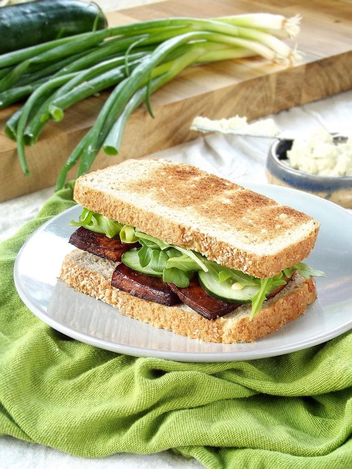 smoky tofu sandwich portrait