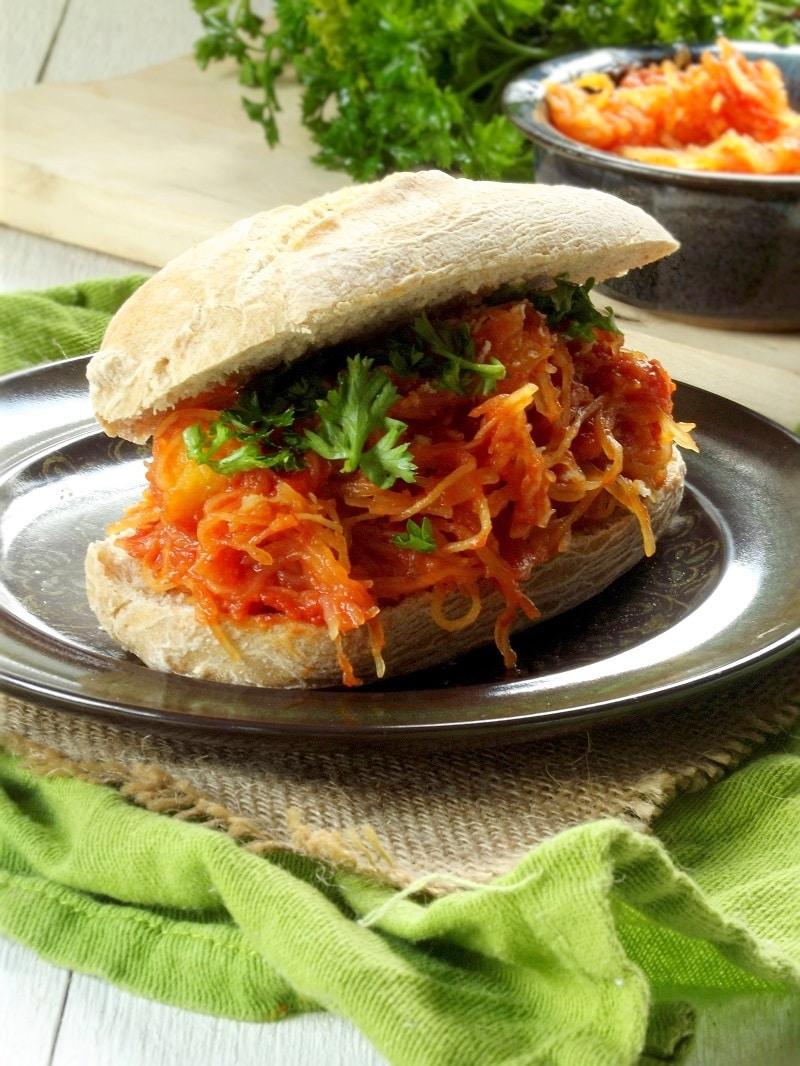 spaghetti squash sandwich portrait
