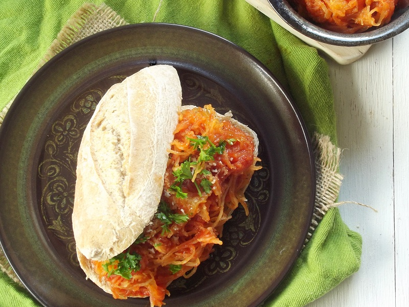 spaghetti squash sandwich top