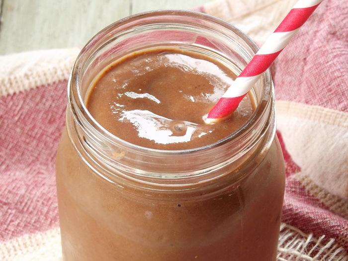 chocolate pumpkin smoothie detail