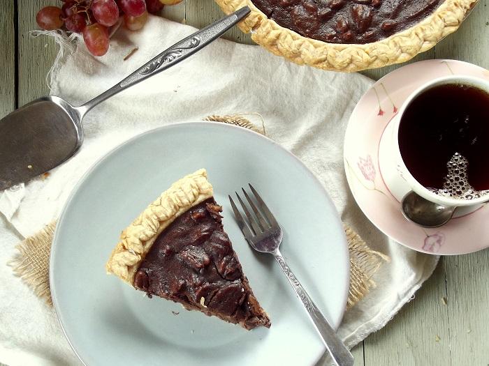 vegan chocolate pie top