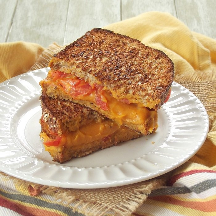 Vegan Grilled Cheese with Sweet Potato Nacho Cheese