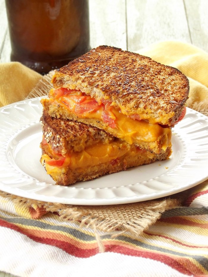vegan grilled cheese portrait