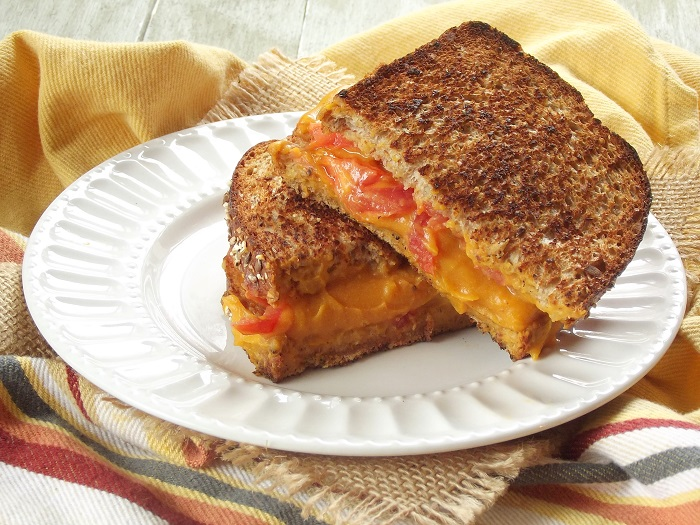 vegan grilled cheese side
