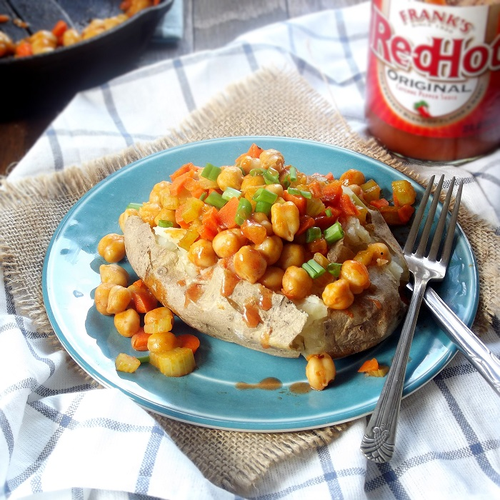 Buffalo Chickpea Stuffed Potatoes