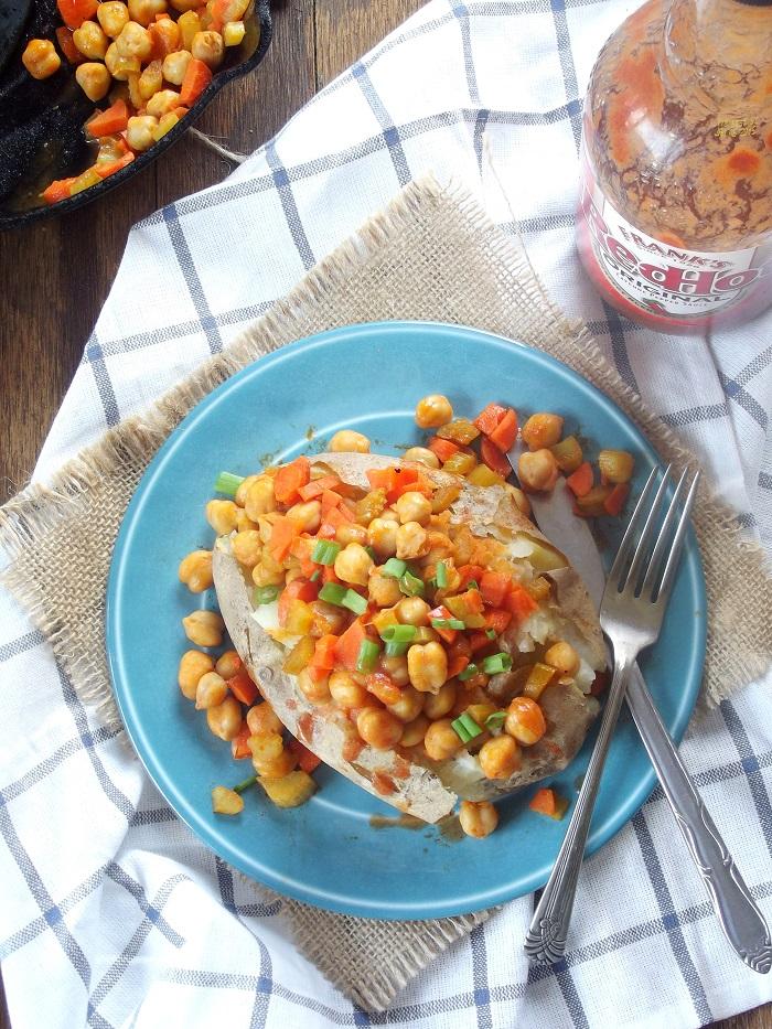Buffalo Chickpea Loaded Potato Recipes — Dishmaps