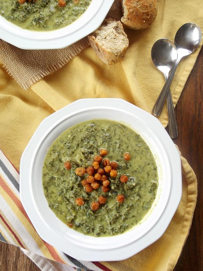 creamy kale soup top portrait