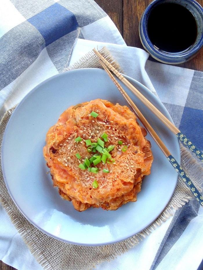 kimchi pancakes portrait