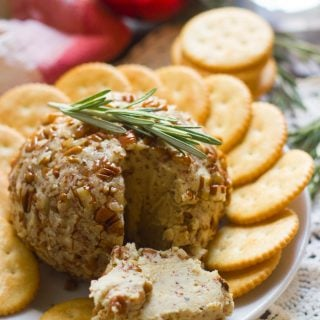Maple Dijon Vegan Cheese Ball