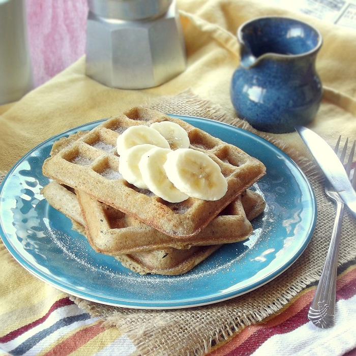 yeasted waffles featured