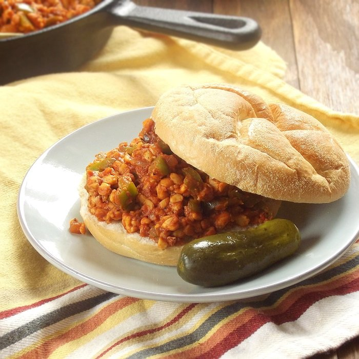 Cajun Tempeh Vegan Sloppy Joes + Vegan Game Day Sandwich Ideas