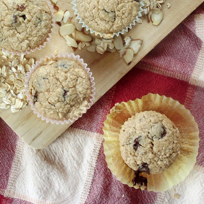 oatmeal chocolate chip muffins featured