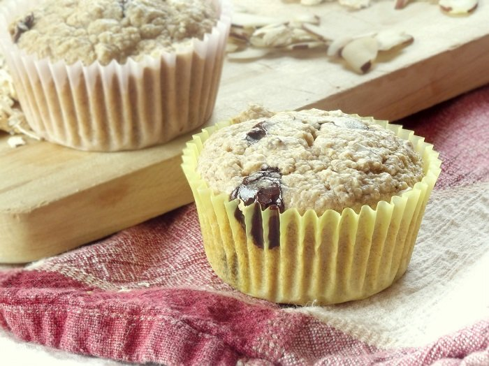 oatmeal chocolate chip muffins side