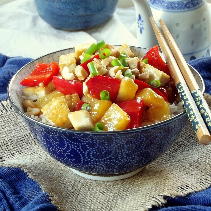This easy sweet and sour tofu is made with crispy pan-fried tofu in a ...