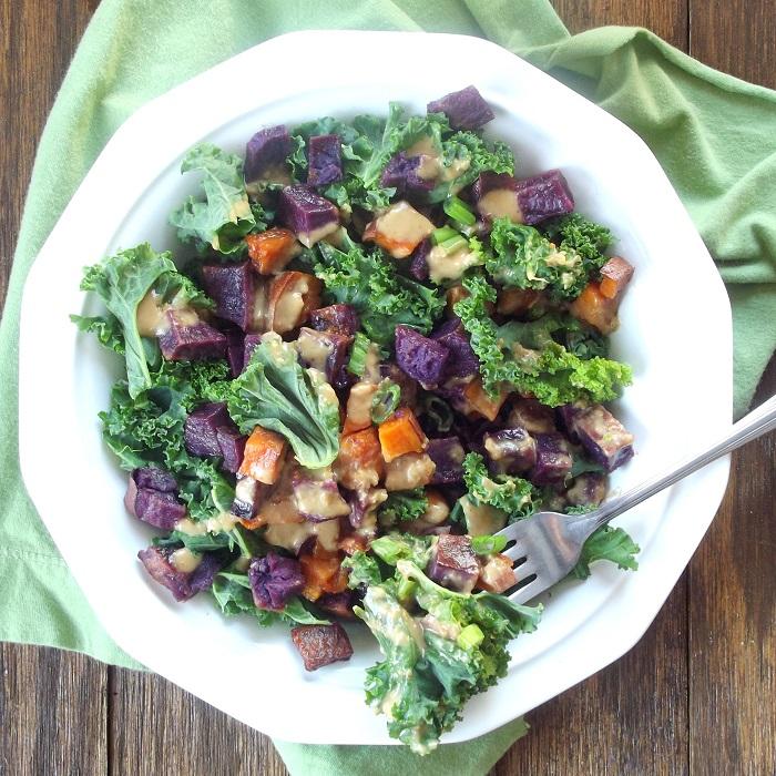 sweet potato kale salad featured