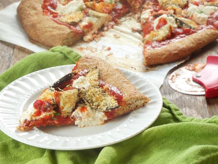 Vegan Eggplant Parmesan Pizza