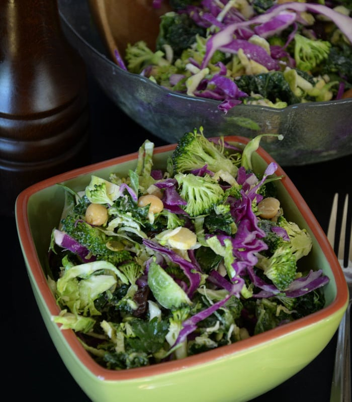 Broccoli, Kale and Brussels Sprout Salad