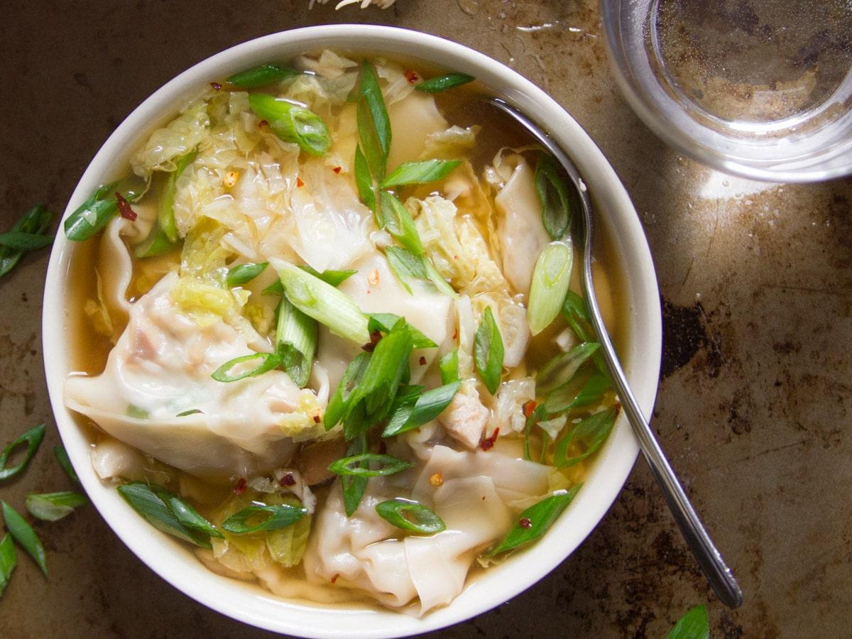 Vegan Shiitake Wonton Soup Connoisseurus Veg Connoisseurus Veg Delicious Vegan Recipes Vegetarian Recipes Vegan Food Blog Connoisseurus Veg