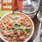 Caribbean Bean Soup with Collard Greens