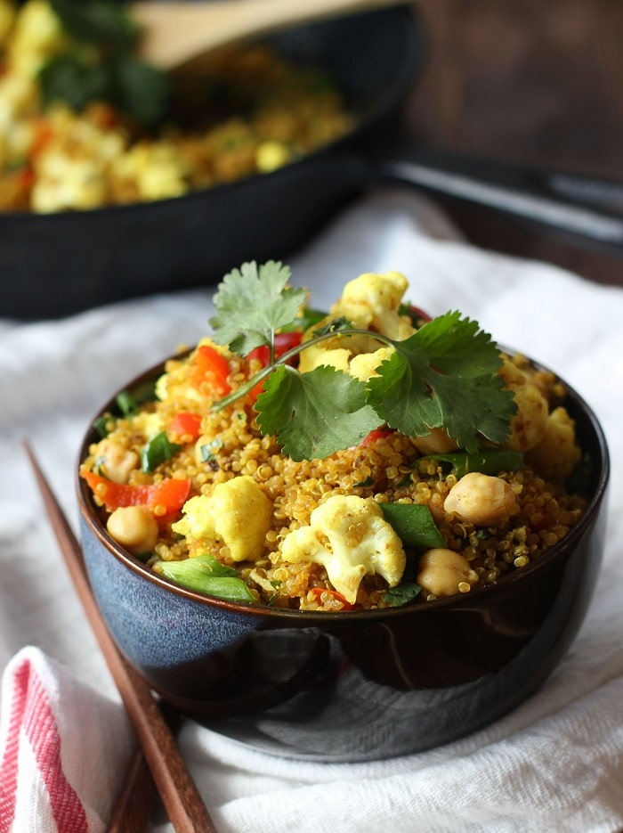 Curried Quinoa Fried Rice