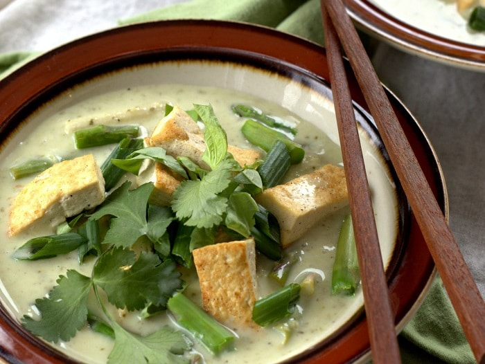 ... green curry with tofu and veggies this flavorful thai vegan green