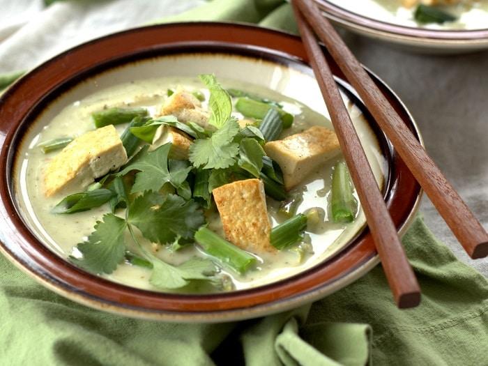 Vegan Green Curry with Tofu and Veggies