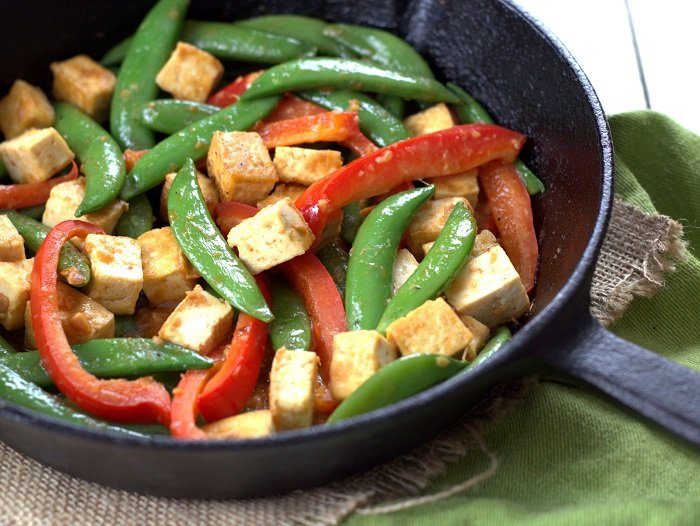 Veggie Miso Tofu Stir-Fry