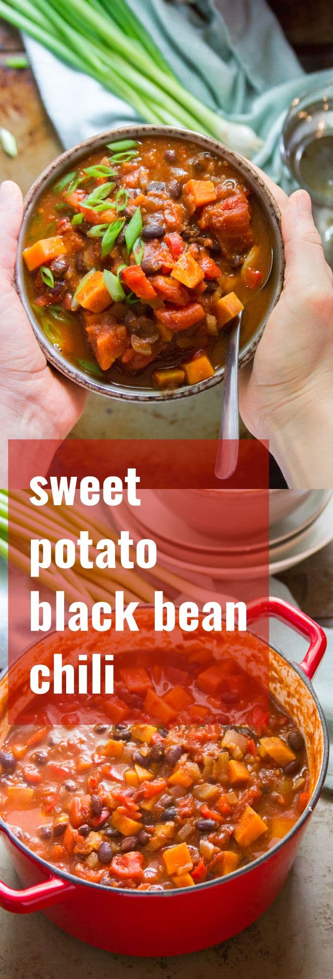 Chipotle Black Bean Sweet Potato Chili