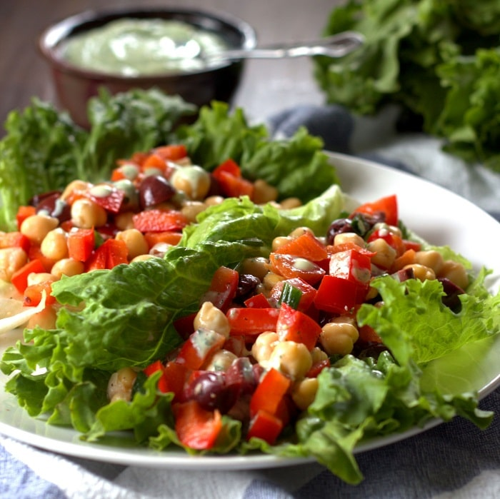 Greek Chickpea Lettuce Wraps - Connoisseurus Veg