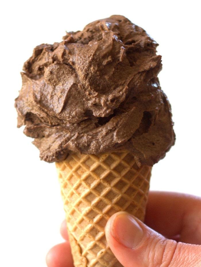 No Churn Raw Vegan Chocolate Ice Cream