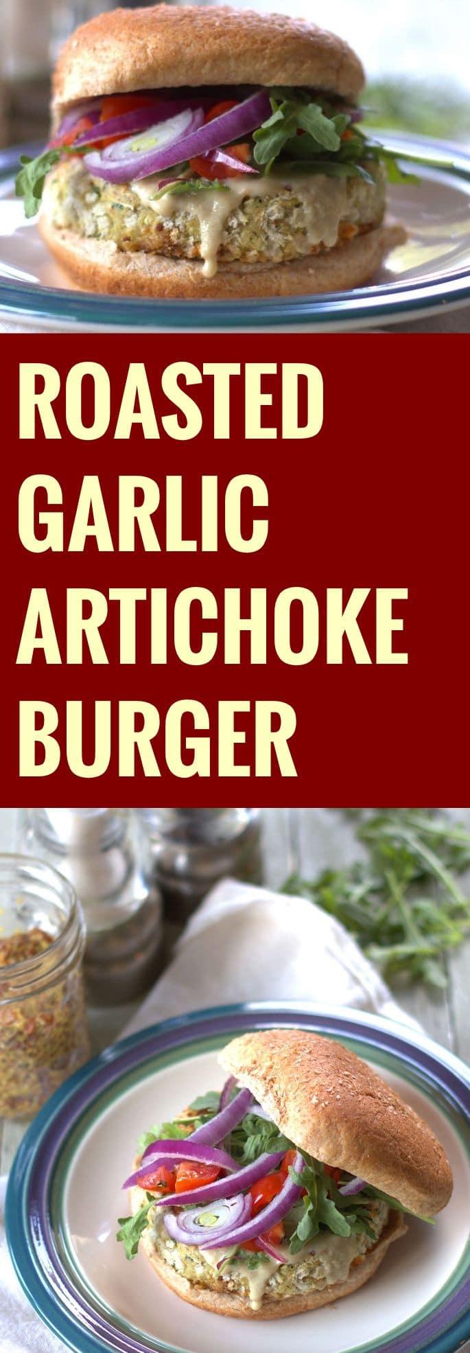 Roasted Garlic Artichoke Burgers