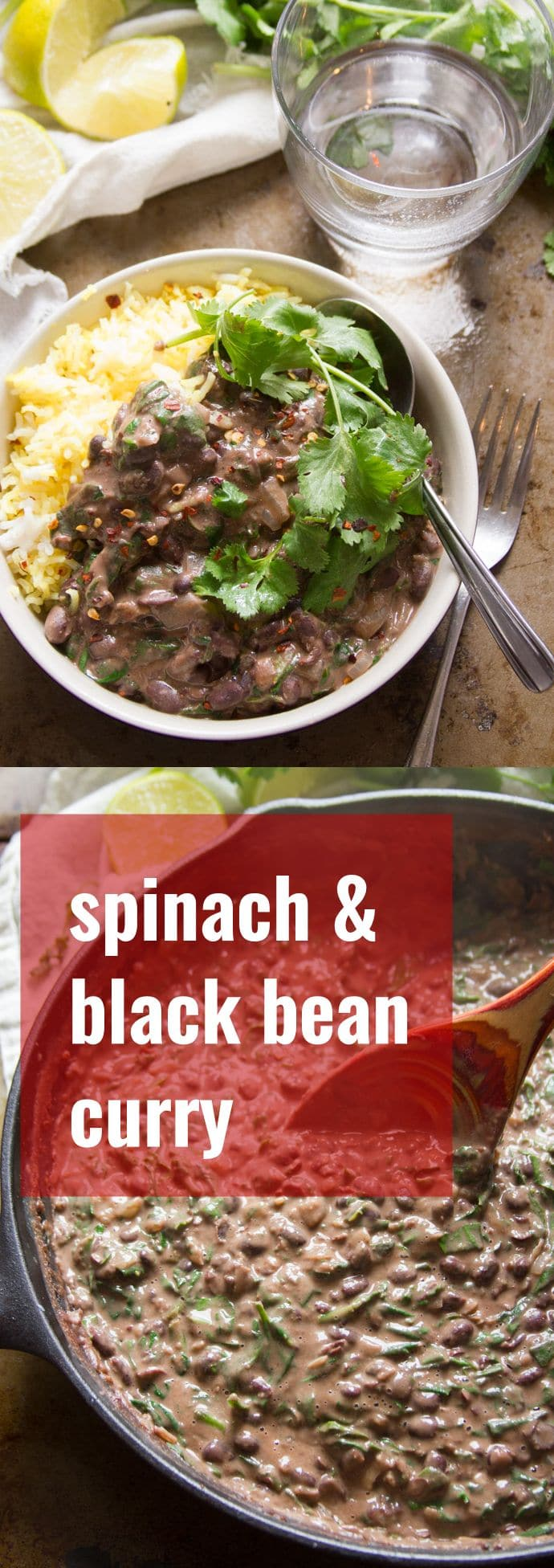 Spinach, Coconut & Black Bean Curry