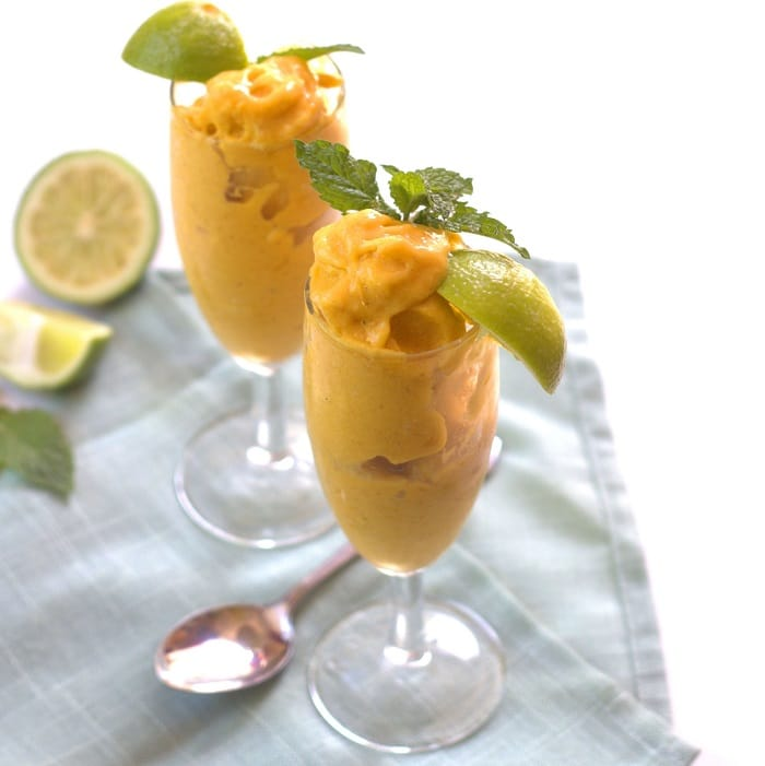 Mango-Lemongrass Ice Cream And Blood Orange Sorbet Recipe ...