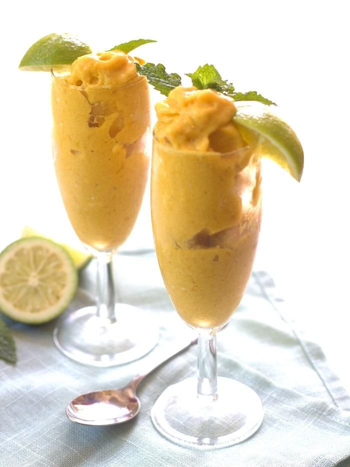 Creamy Mango Sorbet - Connoisseurus Veg