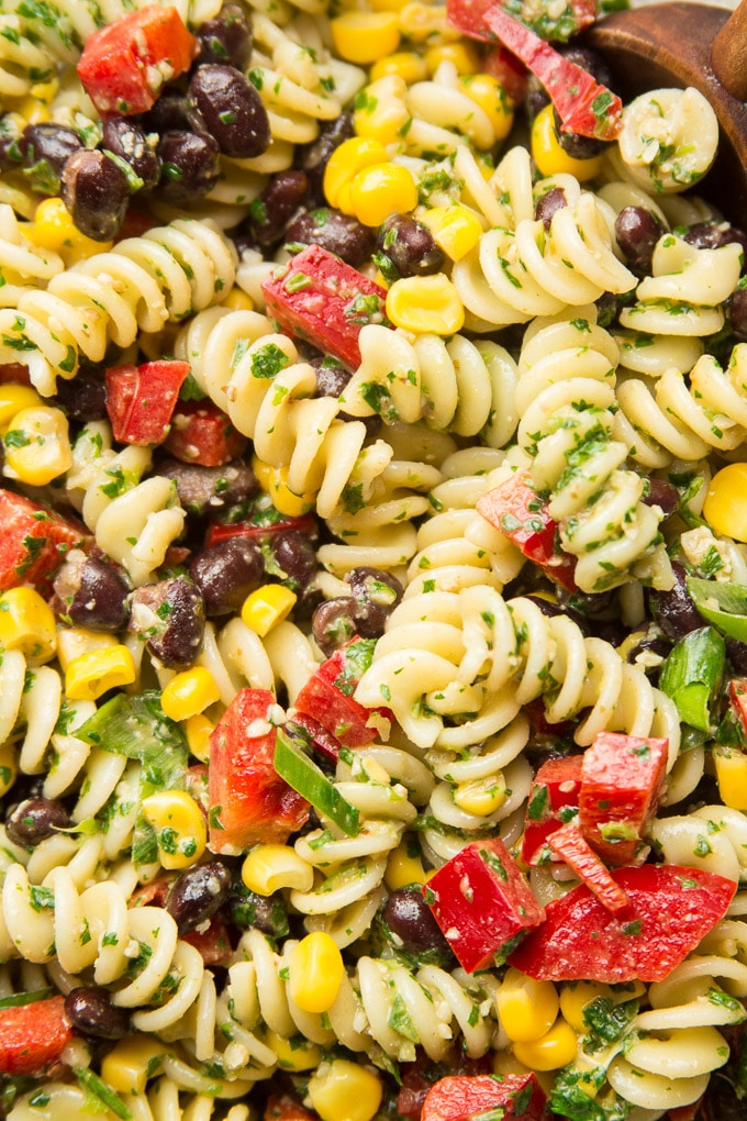 Close Up of Southwest Pasta Salad